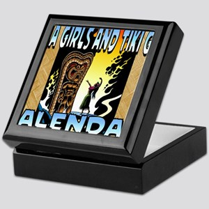Hula Girls and Tiki Gods Calendar Keepsake Box