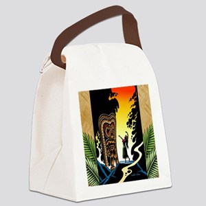Homage to tiki Canvas Lunch Bag