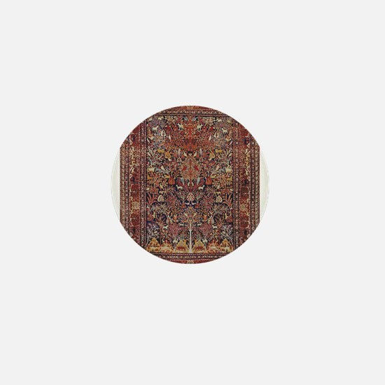 Antique Vintage Persian Rug Mini Button