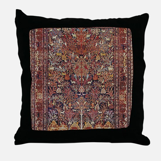 Antique Vintage Persian Rug Throw Pillow