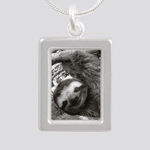 frame print Silver Portrait Necklace