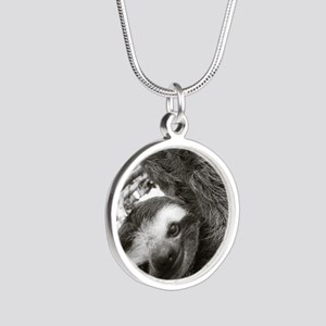frame print Silver Round Necklace