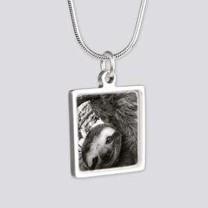 frame print Silver Square Necklace