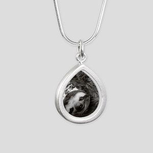 frame print Silver Teardrop Necklace