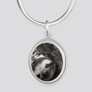 frame print Silver Oval Necklace