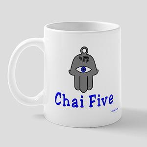 Chai Five Hamsa Mug