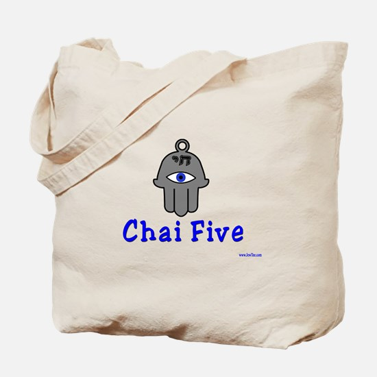 Chai Five Hamsa Tote Bag