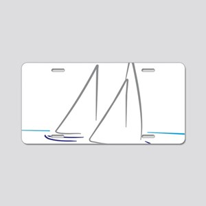 sailing Aluminum License Plate