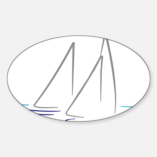 sailing Sticker (Oval)