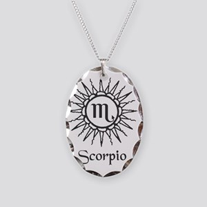 Astrology :: Scorpio Necklace Oval Charm