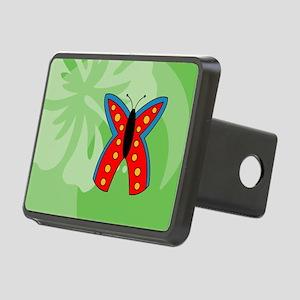 Butterfly USA Sticker Rectangular Hitch Cover
