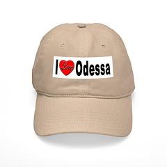 I Love Odessa Baseball Cap