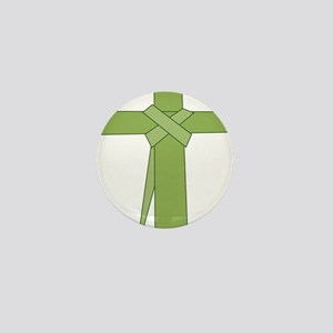 Palm Leaf Folded Mini Button