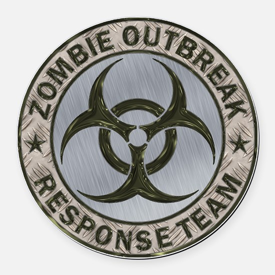 Zombie Response Team Color Round Car Magnet