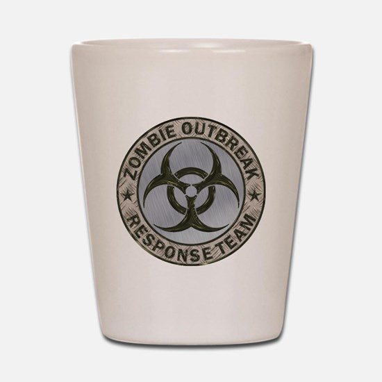 Zombie Response Team Color Shot Glass