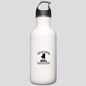 SQUARE dance designs Stainless Water Bottle 1.0L