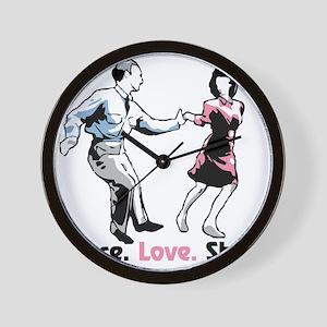 Peace Love Shag Wall Clock