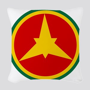 Imperial Ethiopian AF roundel  Woven Throw Pillow