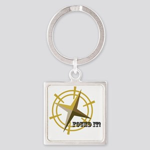 Found It with Compass Square Keychain