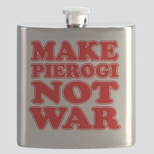 Make Pierogi Not War Apron Flask