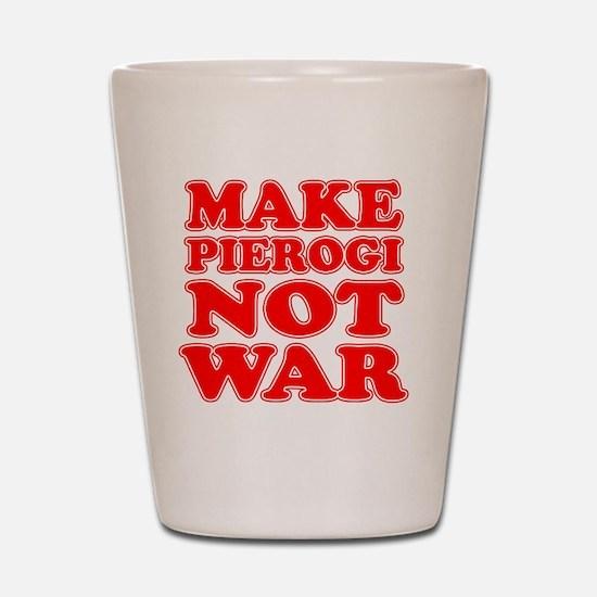 Make Pierogi Not War Apron Shot Glass