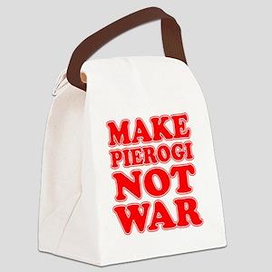 Make Pierogi Not War Apron Canvas Lunch Bag