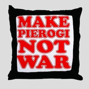 Make Pierogi Not War Apron Throw Pillow