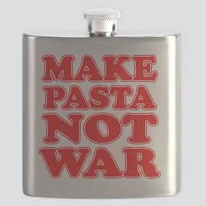 Make Pasta Not War Apron Flask