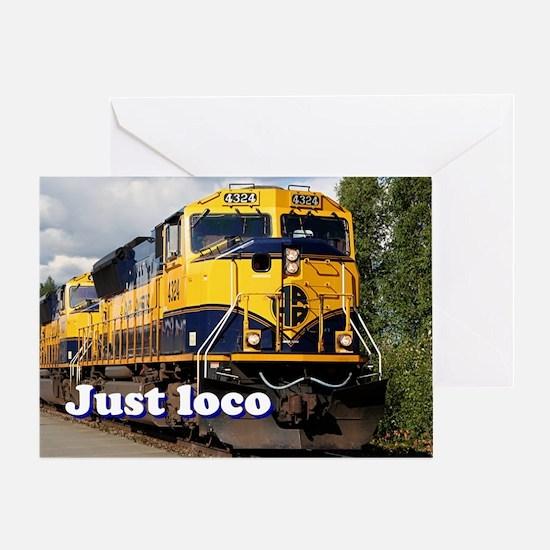Just loco: Alaska locomotive Greeting Card