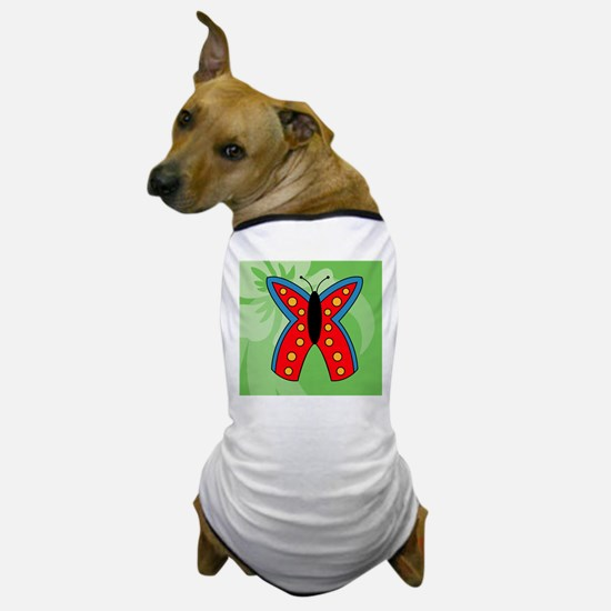 Butterfly Wine Label Dog T-Shirt