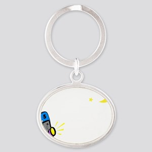 Just One More (dark apparel) Oval Keychain