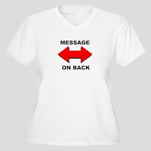 MESSAGES Women's Plus Size V-Neck T-Shirt