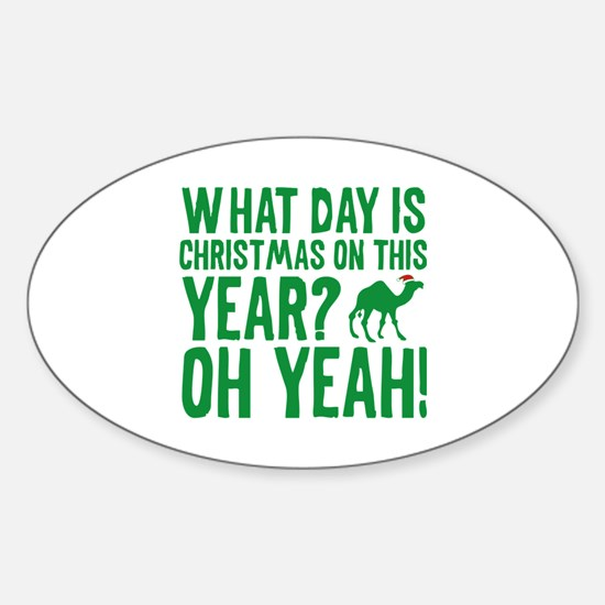 Guess What Day Is Christmas On This Year? Decal
