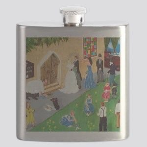 Art By Sandy Wager Painting Flask