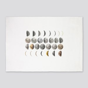Moon Phases 5'x7'Area Rug