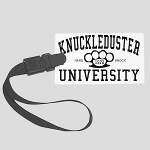 KnuckleDuster University Large Luggage Tag