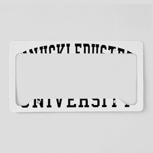 KnuckleDuster University License Plate Holder