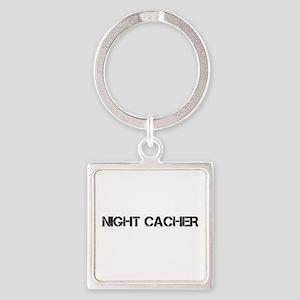 Night Cacher Square Keychain