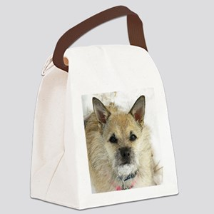 Lizzy snow dog Canvas Lunch Bag