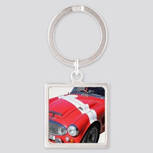 Red car Note 11 case Square Keychain