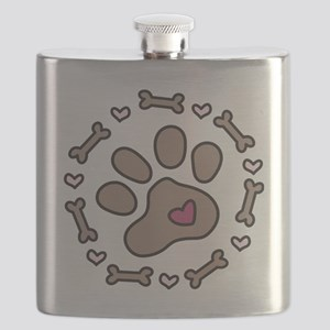 Dog Bone Circle Flask