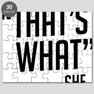 """""""That's What"""" Puzzle"""