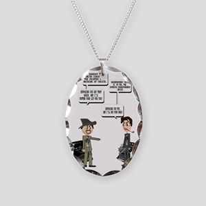 Computer Wars Necklace Oval Charm