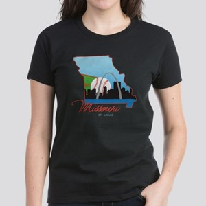 Saint Louis Missouri Women's Dark T-Shirt