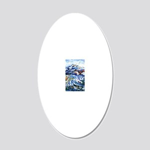 Abstract Mt Rainier 20x12 Oval Wall Decal