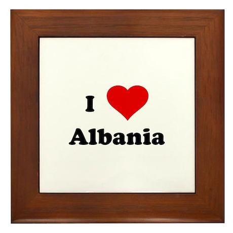 I Love Albania Framed Tile