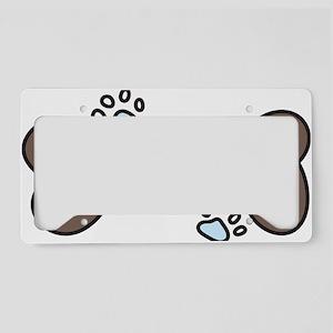 Dog Bone License Plate Holder