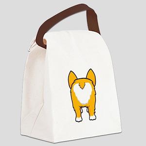 Happy corgi wiggle puppy dog butt Canvas Lunch Bag