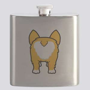 Happy corgi wiggle puppy dog butt Flask