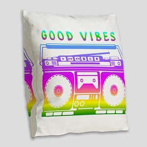 Good Vibes Burlap Throw Pillow